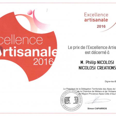 Excellence artisanale 2016