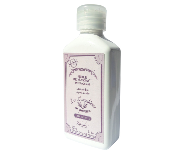"Massaging Oil (organic lavender) ""Lavandieres en Provence"" by Nicolosi Creations"