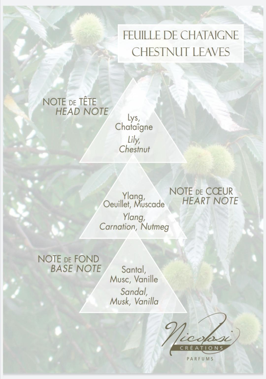Chestnut leaf scent pyramid
